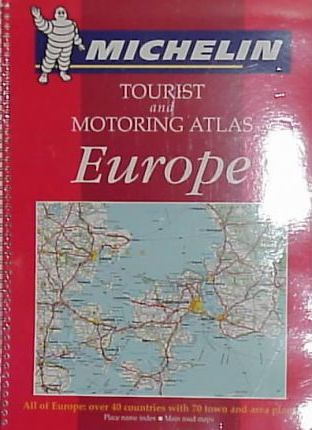 Michelin Touring and Motoring Atlas Europe 1999
