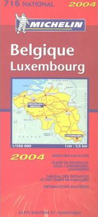 Michelin Belgium-Luxembourg Map No. 716