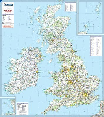 Great Britain & Ireland - Michelin rolled & tubed wall map Paper