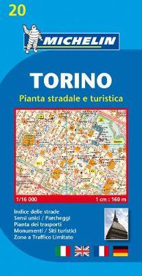 Torino (Turin) Town Plan with Index