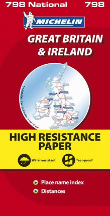 Great Britain & Ireland High Resistance - Michelin National Map