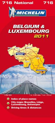 Belgium & Luxembourg National Map 2011 2011