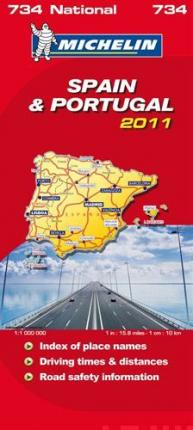 Spain & Portugal National Map 2011 2011