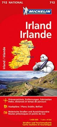 Michelin Nationalkarte Irland 1 : 400 000
