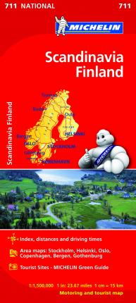 Scandinavia & Finland - Michelin National Map 711 : Map