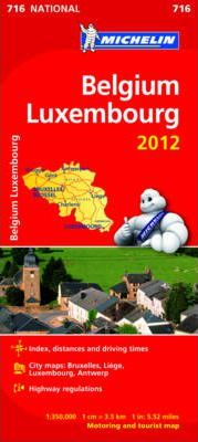 Belgium & Luxembourg 2012 National Map 716