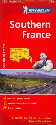 Michelin Southern France Map 725