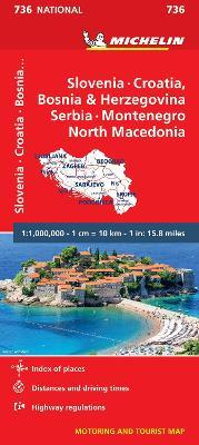 Slovenia, Croatia, Bosnia - Michelin National Map 736