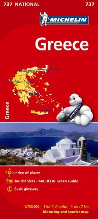 Greece - Michelin National Map 737