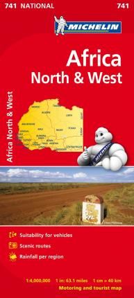 Africa North & West - Michelin National Map 741 : Map