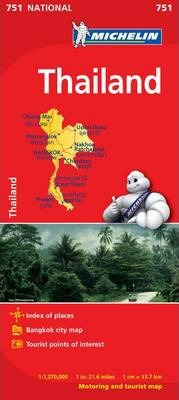 Thailand - Michelin National Map 751 : Map