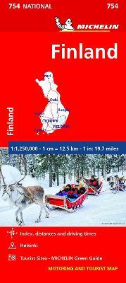 Finland - Michelin National Map 754 : Map