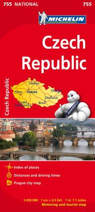 Czechia - Michelin National Map 755