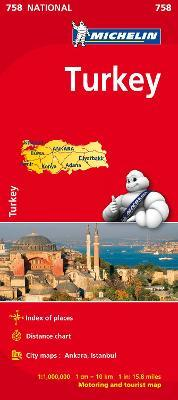 Turkey - Michelin National Map 758 : Map