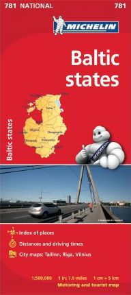 Baltic States - Michelin National Map 781 : Map