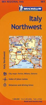 Map Of North West Italy.Michelin Italy Northwest Map 561 Michelin 9782067175112