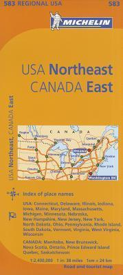 michelin usa northeast canada east map 583