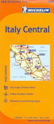 Michelin Italy: Central Map 563