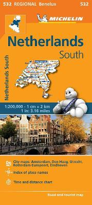 Netherlands South - Michelin Regional Map 532