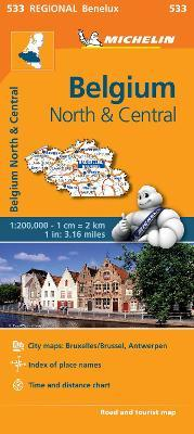 Belgium North & Central - Michelin Regional Map 533