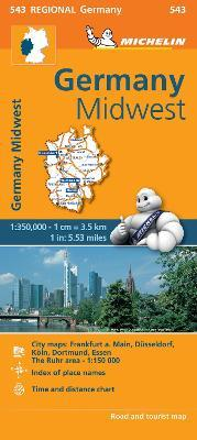 Germany Midwest - Michelin Regional Map 543