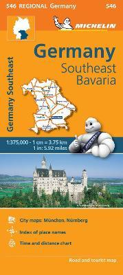 Germany Southeast, Bavaria - Michelin Regional Map 546