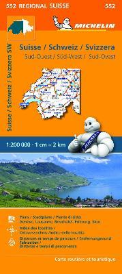 Suisse Sud-Ouest - Michelin Regional Map 552 : Map