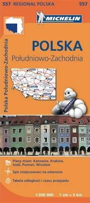 Poland South West - Michelin Regional Map 557 : Map