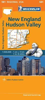 New England, Hudson Valley - Michelin Regional Map 581 : Map