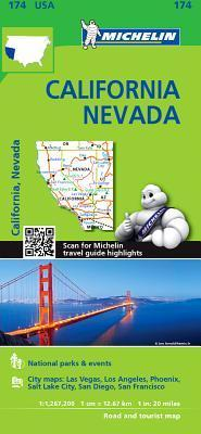 Michelin USA California, Nevada Map 174 : Michelin ...