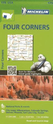 Michelin USA Four Corners Map 175