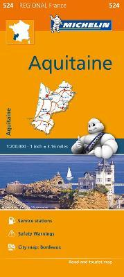Aquitaine - Michelin Regional Map 524 : Map