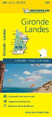 Gironde, Landes - Michelin Local Map 335