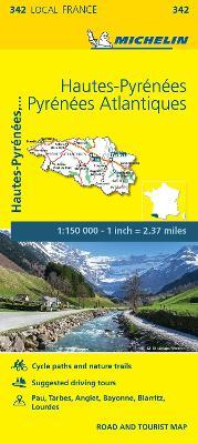 Hautes-Pyrenees, Pyrenees-Atlantiques - Michelin Local Map 342