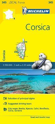 Corse-du-Sud, Haute-Corse - Michelin Local Map 345