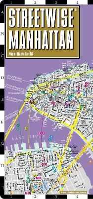 Subway Map Manhattan With Streets.Streetwise Map Manhattan Laminated City Center Street Map Of