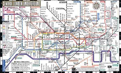 London England City Map.Streetwise London Underground Map Laminated Map Of The London