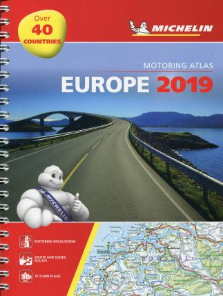 Europe 2019 - Tourist and Motoring Atlas (A4-Spirale) : Tourist & Motoring Atlas A4 spiral