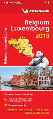 Belgium & Luxembourg 2019 - Michelin National Map 716 : Map