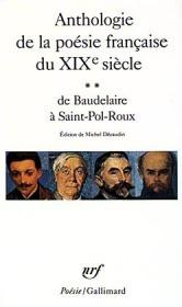 Anthologie de la poesie franccaise du XIXe siecle vol.2