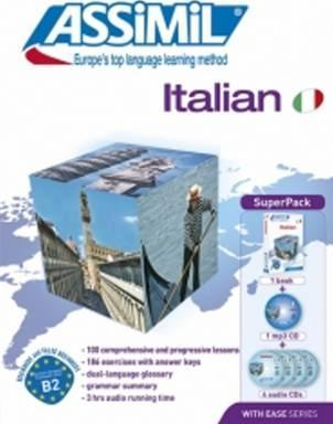 Italian Super Pack (book, 4 audio Cds & 1 mp3 CD)  Italian with ease - ASSIMIL (Book + 1 MP3 CD + 4 Audio CDs)
