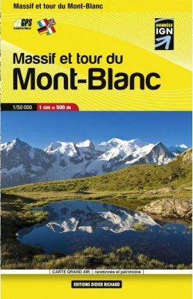 Libris Wanderkarte Mont Blanc Pocket Map (Massif and Tour) 1 : 50 000