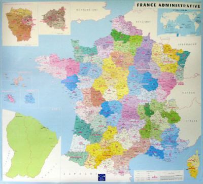 France Departement and Administrative Map