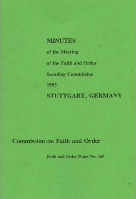 Minutes of the Faith and Order Standing Commission