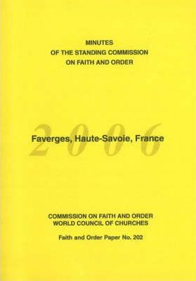 Minutes of the Standing Commission on Faith and Order