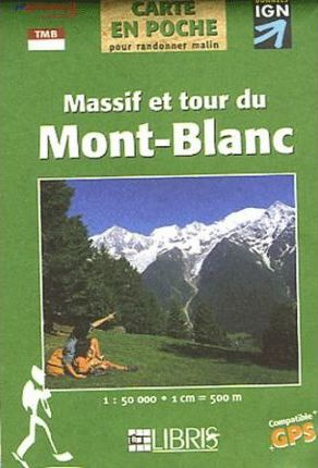 Mont Blanc Pocket Map (Massif and Tour)