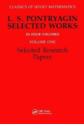 Selected Research Papers: Volume 1 : L. S. Pontryagin : 9782881241055 - 웹