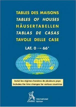 Tables of Houses Latitude 0-66 Degrees