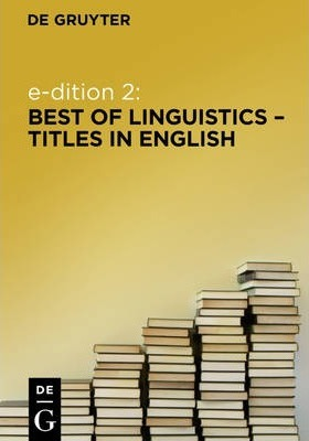 e-dition 2: Best of Linguistics Titles in English / englischsprachige Linguistik (eBook Package / eBook-Paket)