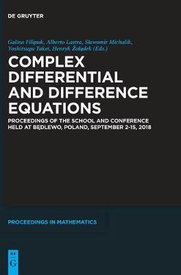 Complex Differential and Difference Equations